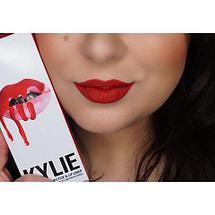 Жидкая матовая помада + карандаш KYLIE Lip Kit от Кайли Дженнер (Leo), фото 2