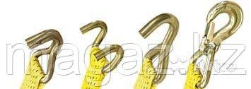 Крюки J-образные двойные для стяжных ремней, максимальная нагрузка 10000, фото 2