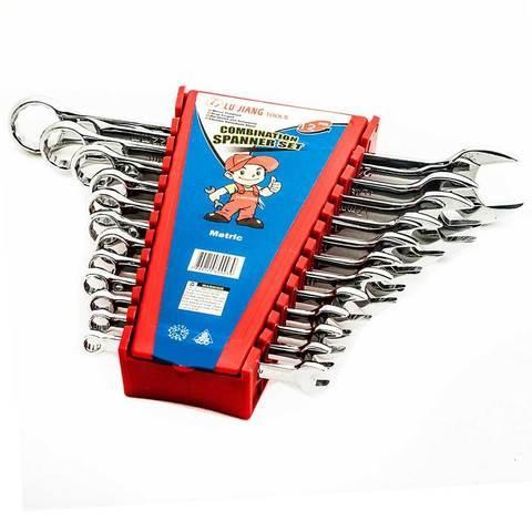 Набор комбинированных рожково-накидных гаечных ключей LU JIANG (12 ключей)