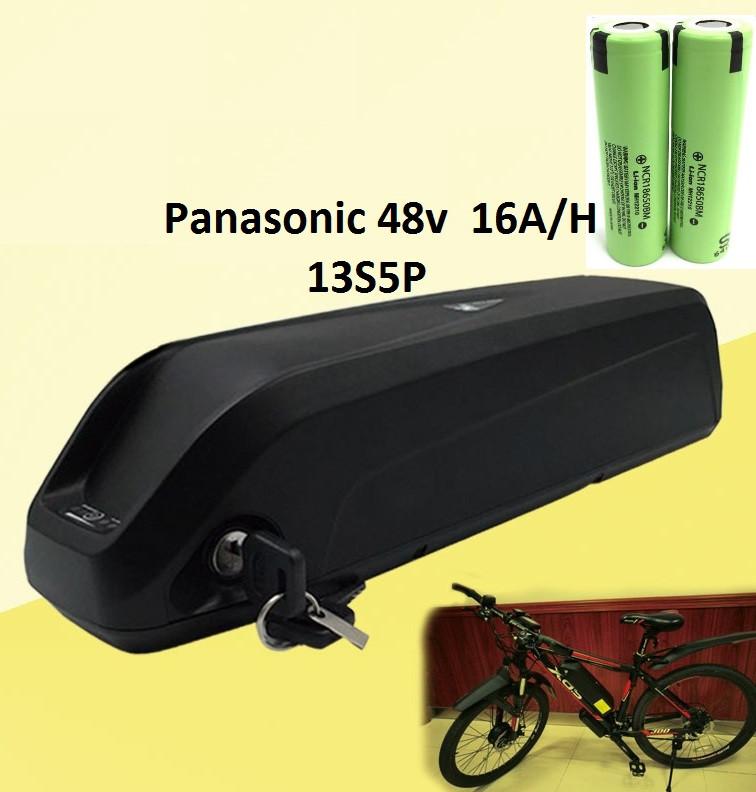 Аккумулятор Li-ion Panasonic 48v 16 A/H + зарядн. устройство 48 v. Вес 4,5 Кг. Для моторов до 1500w