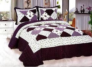 Одеяло-покрывало стеганое двуспальное с наволочками, 220х240см, AY-048 (Бордовый), фото 2