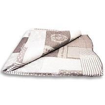 Одеяло-покрывало стеганое двуспальное с наволочками, 220х240см, AY-048 (Бежевый), фото 3