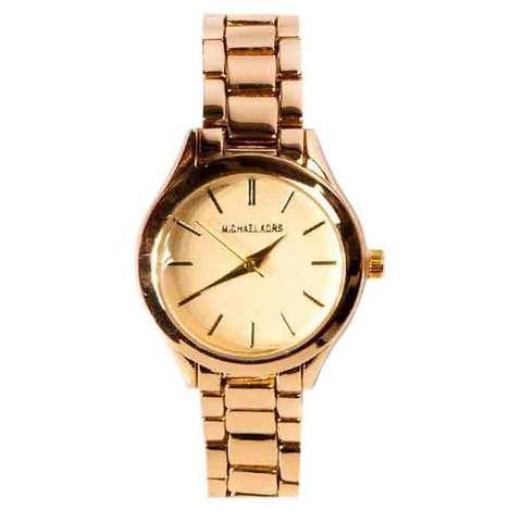 Часы наручные женские Michael Kors MK 117-07 (Золото, желтый циферблат)