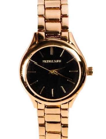 Часы наручные женские Michael Kors MK 117-07 (Золото, черный циферблат)