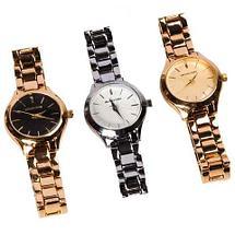 Часы наручные женские Michael Kors MK 117-07 (Золото, черный циферблат), фото 3
