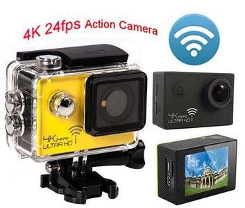 Экшен-камера EXTRAL HD 4K [3840х2160], Wi-Fi, LCD дисплей с набором аксессуаров