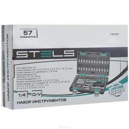 """Набор инструментов ¼"""" STELS Tool Set [57 предметов] 14101, фото 2"""