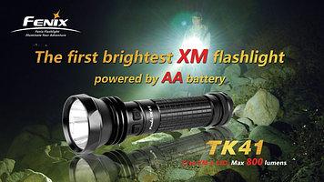 Фонарь электрический тактический Fenix TK41 U2, Дальность луча: 486 м, Яркость: 860 (турбо), 365 (ярко), 120 (