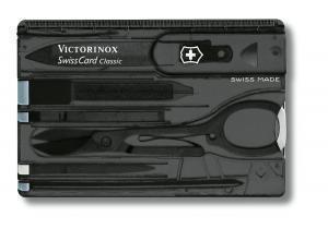 Швейцарская карта маникюрный набор Victorinox SwissCard Onyx, Функционал: Универсальная, Кол-во функций: 10 в