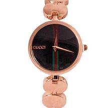 Часы наручные женские реплика GUCCI No.5412 (Жёлтое золото, белый циферблат), фото 3
