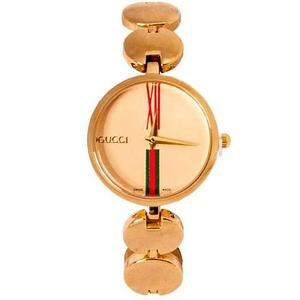 Часы наручные женские реплика GUCCI No.5412 (Жёлтое золото, кремовый циферблат)