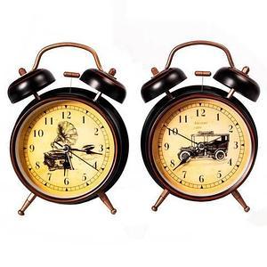 Часы-будильник с кварцевым механизмом в ретро-стиле «Morning smile»
