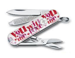Нож складной карманный Victorinox Loving You, Функционал: Туризм, Кол-во функций: 7 в 1, Цвет: Разноцветный, (