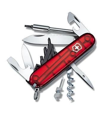 Нож складной универсальный Victorinox CyberTool 34, Кол-во функций: 35 в 1, Цвет: Красный (прозрачный), (1.772