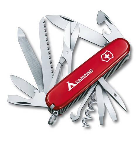 Нож складной офицерский Victorinox Ranger, Кол-во функций: 21 в 1, Цвет: Красный, (1.3763.71)