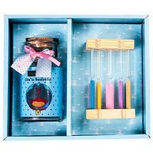 Подарочный набор «Загадай желание» [баночка пожеланий + песочные часы] (Фиолетовый), фото 3