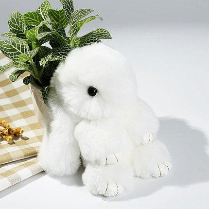 Брелок из натурального меха «Пушистый кролик» [19см] (Белый), фото 2