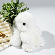 Брелок из натурального меха «Пушистый кролик» [19см] (Сиреневый с ресничками), фото 2