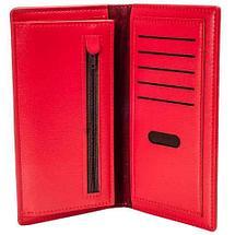 Портмоне вертикальное из экокожи тисненое орнаментом [унисекс] (Красный), фото 2