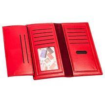 Портмоне вертикальное из экокожи тисненое орнаментом [унисекс] (Красный), фото 3