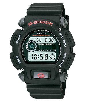 Часы электронные наручные мужские Casio G-SHOCK DW-9052-1VDR, Механизм: Кварц, Браслет: Ремешок из полимерного