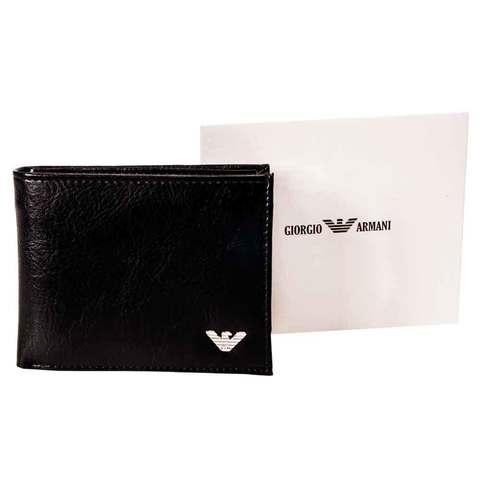 Бумажник двойного сложения мужской с зажимом для купюр GIORGIO ARMANI