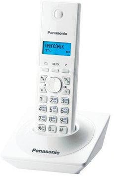 Радиотелефон DECT Panasonic KX-TG1611 CAW, 50 контактов, АОН: Есть, Ресурс: 550 мАч, время зарядки - до 7 ч, Р