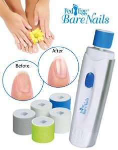 Электрическая пилка для ногтей с набором насадок Bare Nails Ped Egg