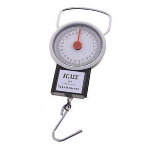 Весы-безмен механические с рулеткой SCALE {вес до 35 кг}
