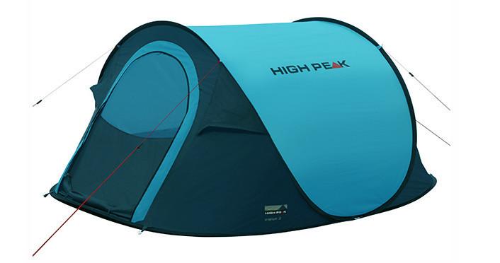 Палатка трекинговая (равнинная) High Peak Vision 3, Кол-во человек: 3, Входов/комнат: 1/1, Тамбуров: Нет, Внут - фото 3