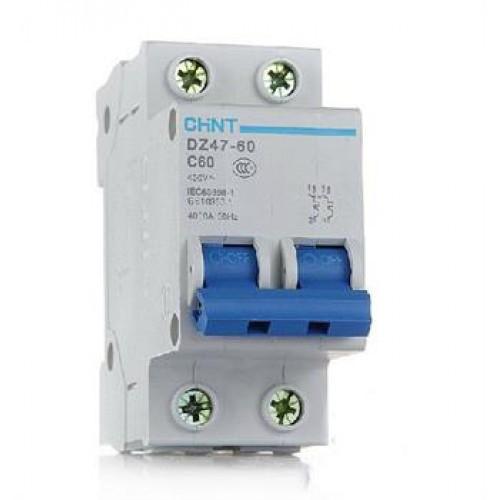 Автоматический выключатель реечный Chint DZ47-60 2P 16А, 230/400 В, Кол-во полюсов: 2, Предел отключения: 4,5