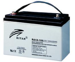 Батарея необслуживаемая (аккумулятор) Ritar RA12-100 (12V 100 Ah), Емкость аккумулятора: 100 Ah, Разъемы: F5/F