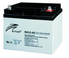 Батарея необслуживаемая (аккумулятор) Ritar RA12-45 (12V 45 Ah), Емкость аккумулятора: 45 Ah, Разъемы: F4/F11