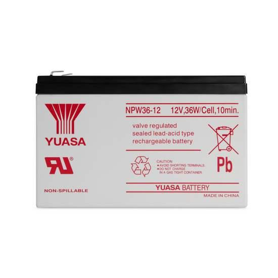 Батарея необслуживаемая (аккумулятор) YUASA NPW 36-12 (12V 7,5 Ah), Емкость аккумулятора: 7,5 Ah, Разъемы: F1