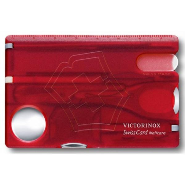 Швейцарская карта дорожный набор Victorinox SwissCard Nailcare, Функционал: Универсальная, Кол-во функций: 13
