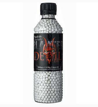 Пластиковые шарики для страйкбольного оружия ASG BB Blaster Devil, Калибр: 6,0, 3000 шт., 0,3 г, Цвет: Белый,