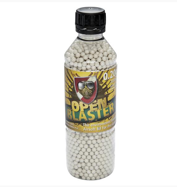 Пластиковые шарики для страйкбольного оружия ASG BB Open Blaster, Калибр: 6,0, 3000 шт., 0,20 г, Цвет: Белый,