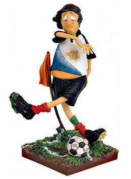 Статуэтка декоративная Forchino Футболист, Высота: 360 мм, Материал: Полистоун, Цвет: Разноцветный, (FO85516)