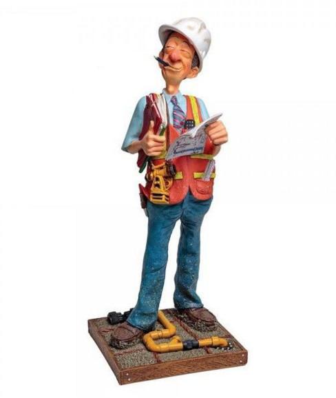 Статуэтка декоративная RMV Строитель, Высота: 420 мм, Материал: Полимер, Цвет: Разноцветный, (FO85533)