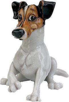 Статуэтка декоративная Arora Собака Рассел Терьер Фабиан, Высота: 190 мм, Материал: Керамистоун, Цвет: Коричне