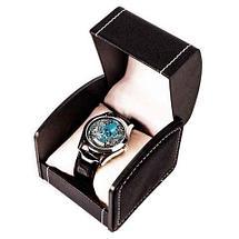 Часы мужские кварцевые «Kazakhstan Collection» с изображением герба (Чёрный, серебряный циферблат), фото 2