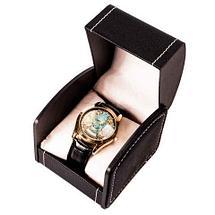Часы мужские кварцевые «Kazakhstan Collection» с изображением герба (Коричневый, золотистый циферблат), фото 3