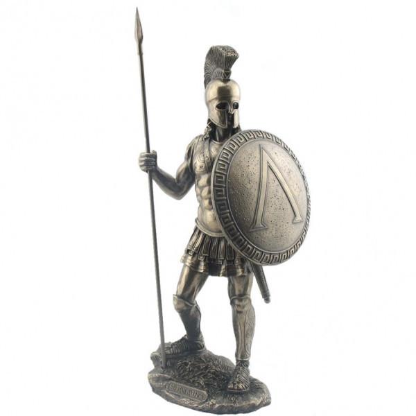 Статуэтка Wise Unicorn Спартанский воин, Высота: 360 мм, Материал: Полистоун, Цвет: Бронзовый, (WU75963A)