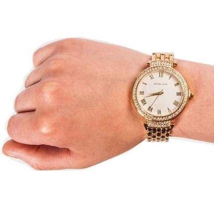 Часы наручные женские реплика MICHAEL KORS MK-1282 (Белый циферблат), фото 2
