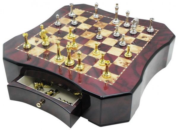 Шахматы ARMS D-95249267, Корпус: Дерево, Покрытие: Глянцевый лак, Высота фигур: От 5 до 9 см