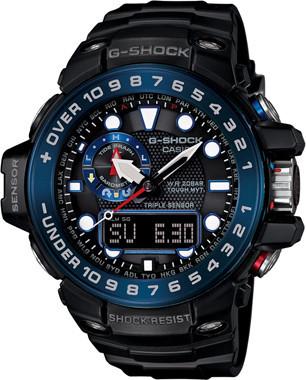 Часы электронные наручные мужские Casio G-SHOCK GWN-1000B-1BDR , Механизм: Кварц, Браслет: Каучук, Застежка кл