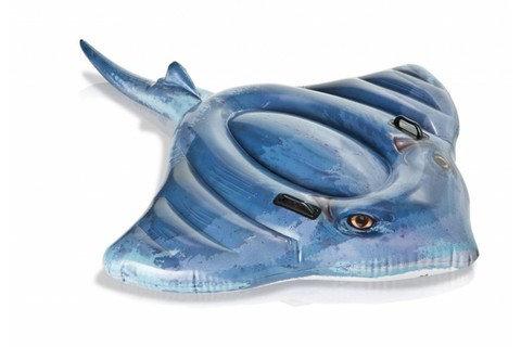Плот надувной детский в виде морского животного INTEX [лебедь; скат; крокодил] (Крокодил), фото 2
