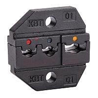 Номерные матрицы для опрессовки изолированных наконечников, гильз и разъемов с красной, синей и желтой манжетами КВТ МПК-01