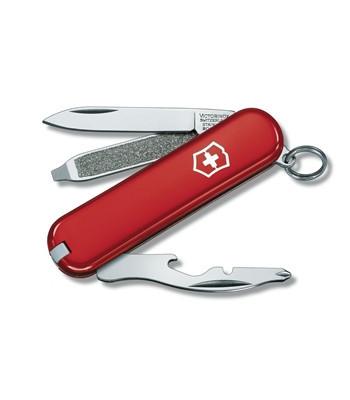 Нож складной карманный Victorinox Rally, Функционал: Туризм, Кол-во функций: 9 в 1, Цвет: Красный, (0.6163)