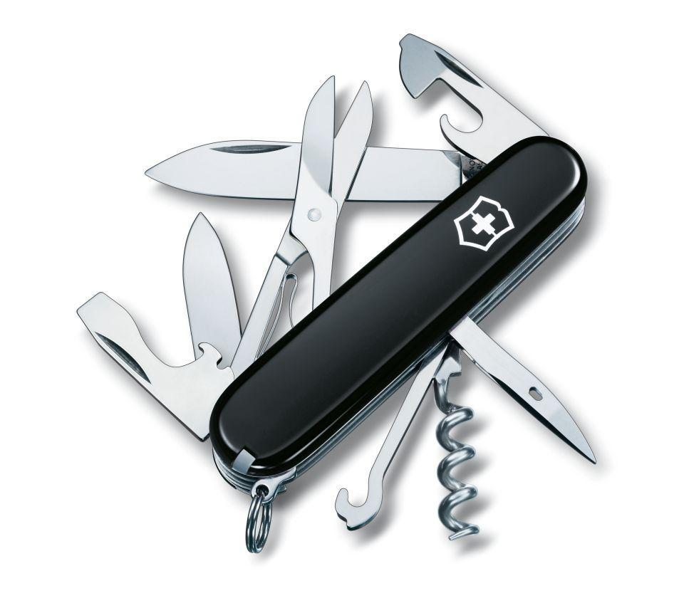 Нож складной офицерский Victorinox Climber, Функционал: Альпинистский, Кол-во функций: 14 в 1, Цвет: Чёрный, (